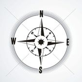 Compass in white background — Stock Vector