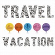 Stock Vector: Vacation and travel