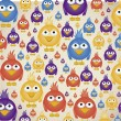 Colorful birds pattern — Vector de stock #12892085