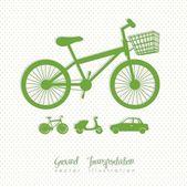 Ecological bike — Stock Vector
