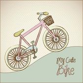 Pastel colored bike — Stock Vector