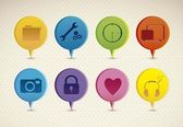 Sosyal ağ — Stok Vektör