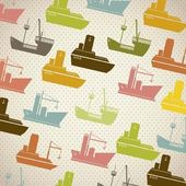 Boats pattern — Stock Vector