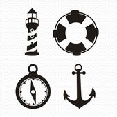 Offshore Icons — Stock Vector