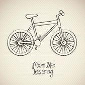 Illustration bike — Stock Vector