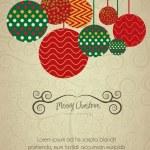 Christmas balls hanging on — Stock Vector #13180394