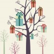 The gifts tree — Imagen vectorial