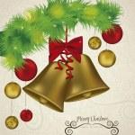 Christmas golden bells — Stock Vector #13183693