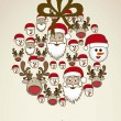 Illustration of christmas balls — Imagen vectorial