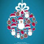 ilustração de bolas de Natal — Vetorial Stock