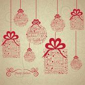 クリスマス ボールとギフト — ストックベクタ