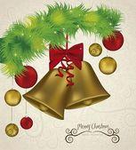 Christmas gyllene klockor — Stockvektor