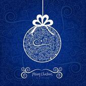 Christmas ball hanging on — Stock Vector