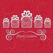 Christmas gifs — Stock Vector