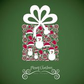 Illustration of christmas gift — Stock Vector