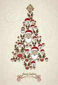 Illustration of christmas tree — Stock Vector