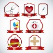 Stock Vector: Icons for medicine