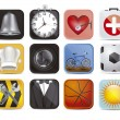 Colorful applications icons — Imagen vectorial