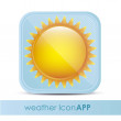 Icon for application of meteorology — Stock Vector