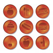 Restaurant and food icons — Stock Vector #13441364