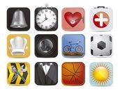 Colorful applications icons — Stock Vector