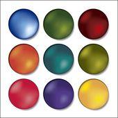 Färgade knapparna — Stockvektor