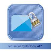 Dossier d'icône pour la sécurité des applications — Vecteur