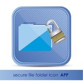 Icon folder for application security — Stock Vector