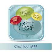 Icône de l'application de chat — Vecteur