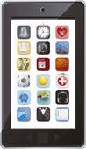 Téléphone avec des icônes d'application — Vecteur