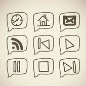 Sketches icons — Stock Vector