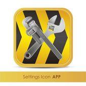 安装应用程序或工具的图标 — 图库矢量图片