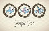 Fish Drawings — Stock Vector