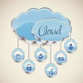 Cloud computers — Stock Vector