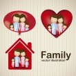 Royalty-Free Stock Vector Image: Family icons