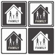 Family icons — Stock Vector #13708283