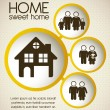 Home and family icons  — Stock Vector