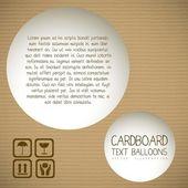 Textured cardboard — Stock Vector