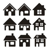 Casa icone — Vettoriale Stock