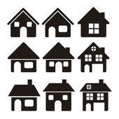 Icônes de la maison — Vecteur