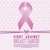 Kanker van de borst — Stockvector