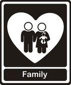 Familie pictogrammen — Stockvector
