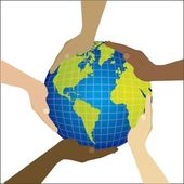 Multiethnic teamwork — Stock Vector