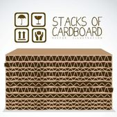 Stacks of cardboard boxes — Stock Vector