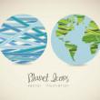 Planet earth icons  — Stock Vector