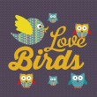 iconos de aves — Vector de stock