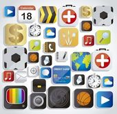 App icons — Stock Vector