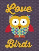 Fåglar ikoner — Stockvektor