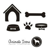Animal icons — Stok Vektör