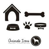 Icônes animaux — Vecteur